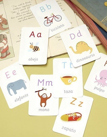 Spanish alphabet flashcards.
