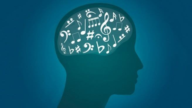 Music in the brain, illustrated.